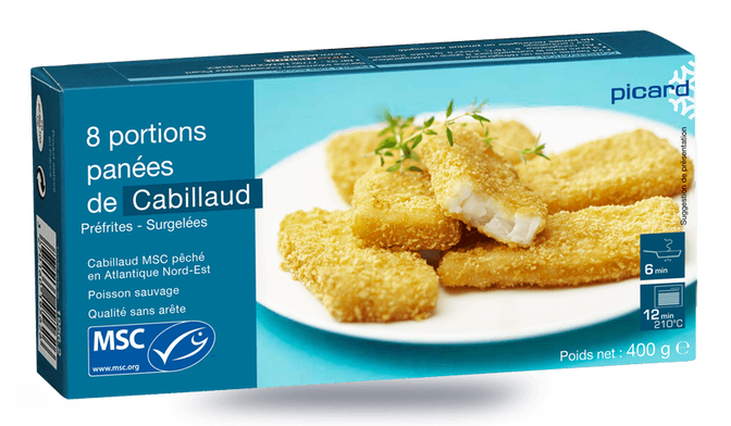 8 portions de cabillaud MSC