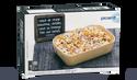 Gratin courge butternut, céréales, fromage frais