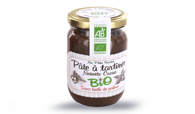 Pâte à tartiner noisette et cacao bio
