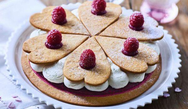 Gâteau sablé vanille-framboise, 6 parts