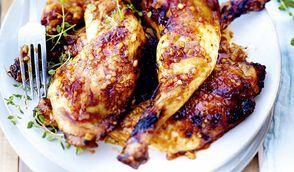 Cuisses de poulet marinées
