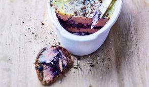 Foie gras à la myrtille