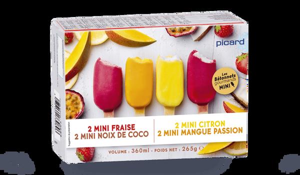 8 mini-Best sorbet divers enrobages fruits