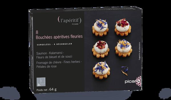 8 bouchées apéritives fleuries