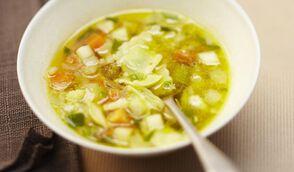 Soupe de ravioles, façon minestrone