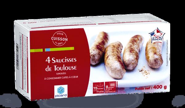 4 saucisses de Toulouse