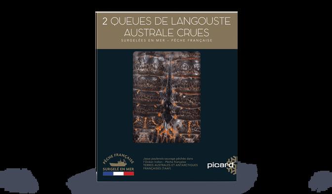 2 queues de langouste australe crues, Pêche française
