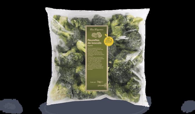 Brocolis en fleurettes sans résidus de pesticides