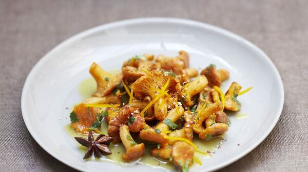 Girolles aux parfums d'orange et de badiane