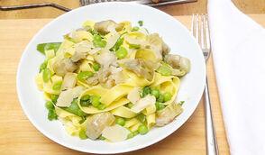 Tagliatelle aux légumes printaniers