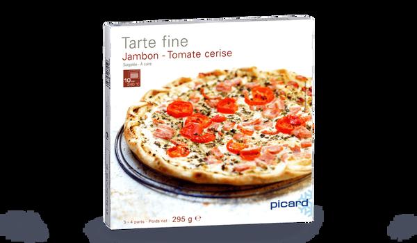 Tarte fine jambon tomate cerise