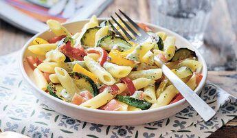 Penne légumes du soleil, sauce ricotta basilic bio