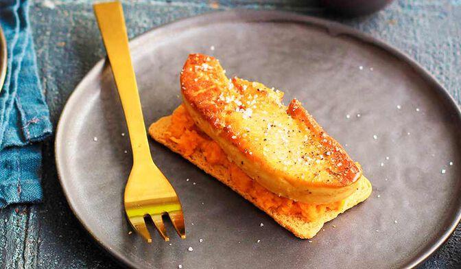 Chaud-froid de foie gras et patate douce