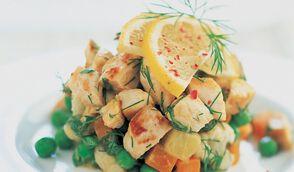 Salade de poulet aux herbes et citron