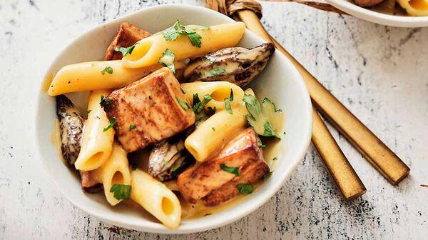 Macaronade au foie gras de canard et aux morilles par Hélène Darroze