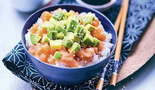 Chirashi au saumon