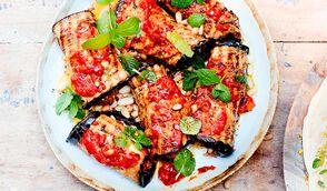 Rouleaux d'aubergines à la viande