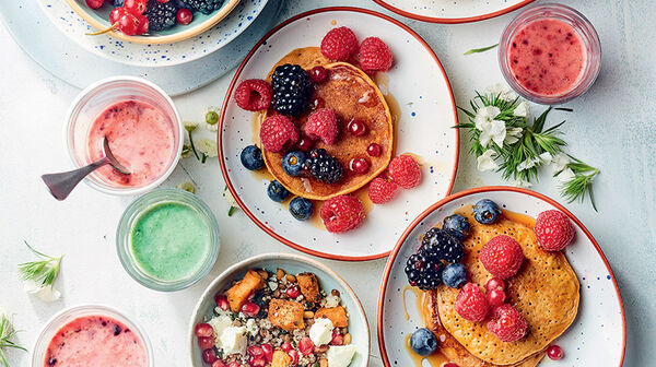 Pancakes courge, patate douce