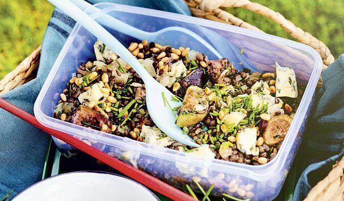 Salade de lentilles au bleu d'Auvergne