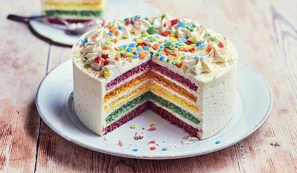 Rainbow cake, 8 parts