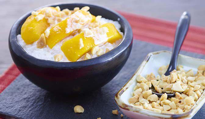 Tapioca au lait de coco et à la mangue