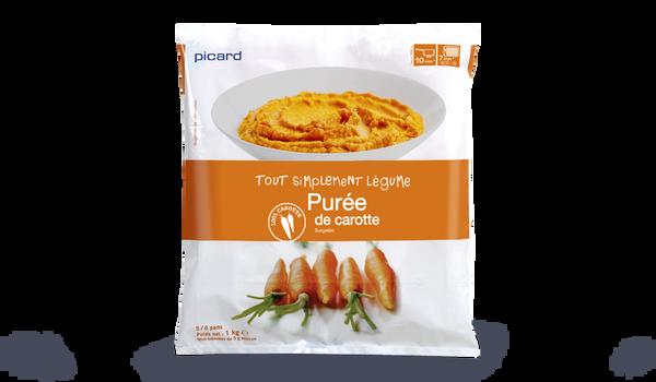 Purée de carottes, portionnable