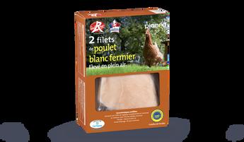 2 filets de poulet blanc fermier, Label Rouge