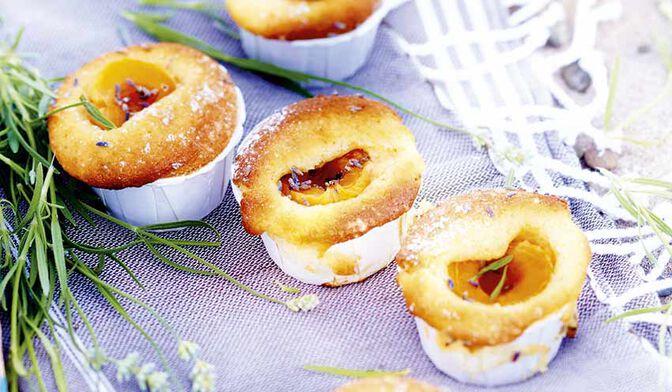 Petits gâteaux abricot-lavande