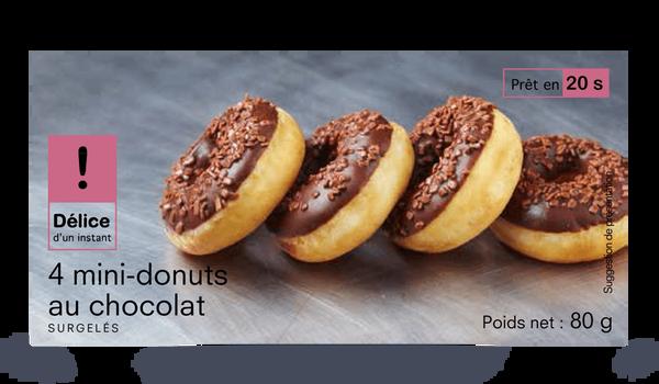 4 mini-donuts au chocolat