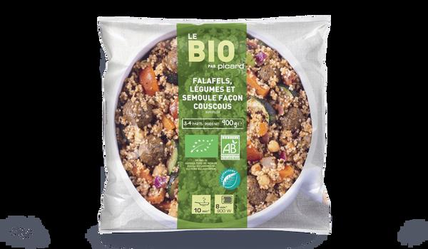 Falafels, légumes et semoule façon couscous bio