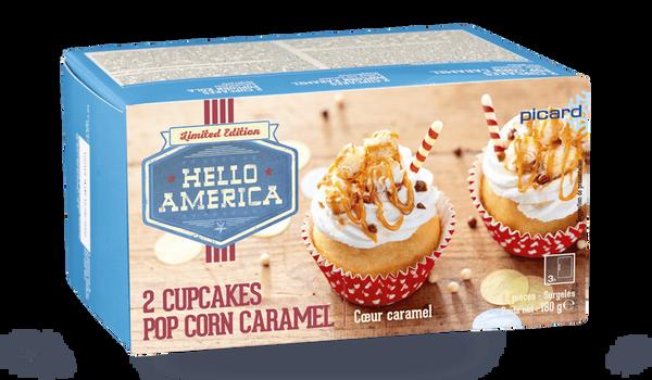 2 cupcakes pop-corn caramel