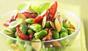 Salade express de fèves croquantes