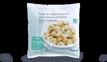 Noix de St-Jacques aux tomates séchées et romarin