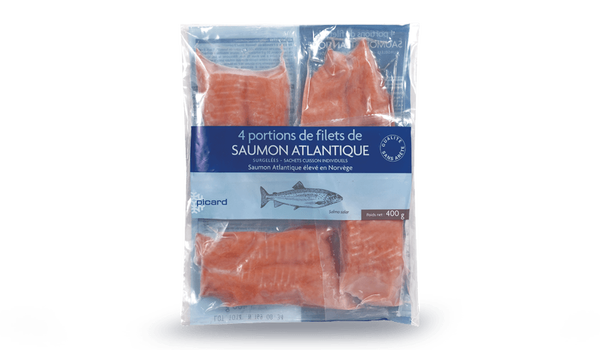 4 portions de filets de saumon atlantique, Norvège