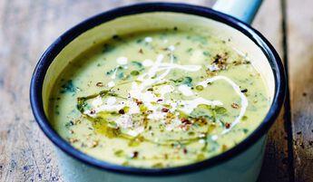 Velouté fèves épinard cuisiné l'huile olive (5,8%)