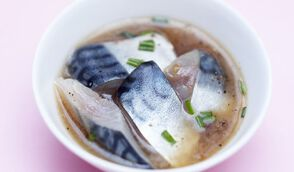 Saba nitsuke (maquereau cuit minute au soja et saké)