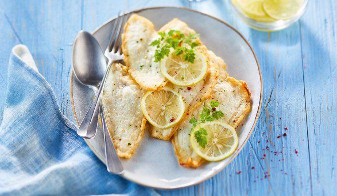 Filets de limande façon meunière