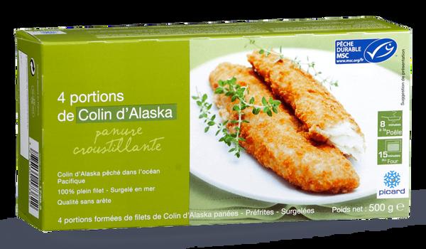 4 portions panées de filet de colin d'Alaska MSC