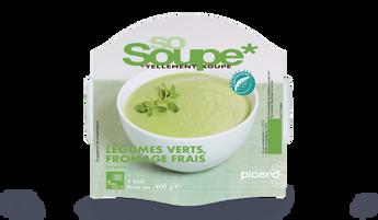 Soupe légumes verts au fromage frais