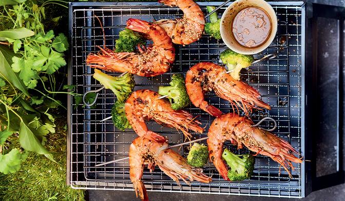 Crevettes et brocolis à la japonaise