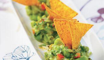 Compotée de légumes et guacamole