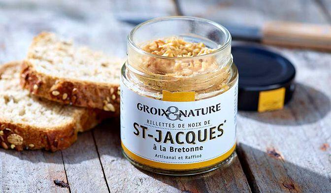 Groix et Nature Rillettes de Noix de St Jacques à la Bretonne