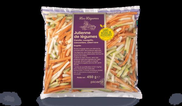 Julienne de légumes sans résidu de pesticides