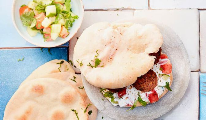 Pita aux falafels