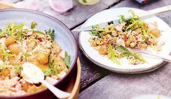 Taboulé de quinoa à la menthe et au melon