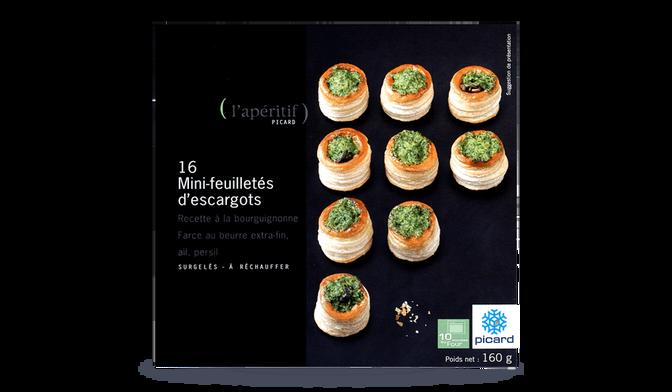 16 mini-feuilletés d'escargots à réchauffer
