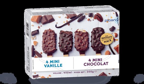 8 mini-bâtonnets vanille et chocolat