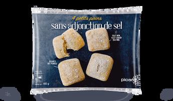 4 petits pains sans adjonction de sel