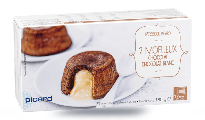 2 moelleux chocolat-chocolat blanc
