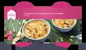 2 soupes thaï au poulet et aux vermicelles